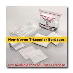 First Aid Training Kit w/ 2 Non-Woven Triangular Bandages (Case of 100)