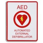 "AED Plus Wall Sign (8.5"" x 11"")"