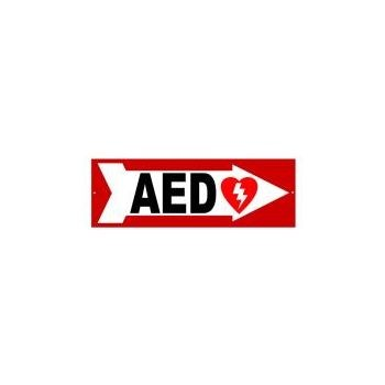 Aed Sign Right Arrow Dac 233 Made By Defibtech Cpr