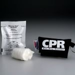CPR Faceshield/One-Way Valve in Nylon Pouch/Keychain