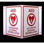 V-Shaped AED Sign