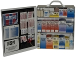 3 Shelf Steel First Aid Station -Wall Mountable with 493 Pieces