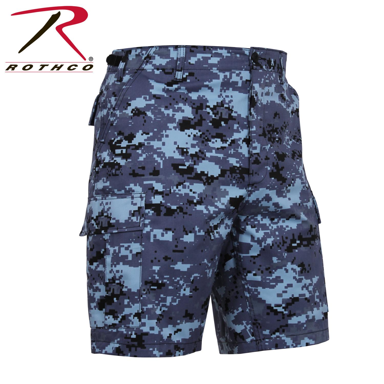 Sky Blue Digital Camo B.D.U. Combat Shorts 1547149884a