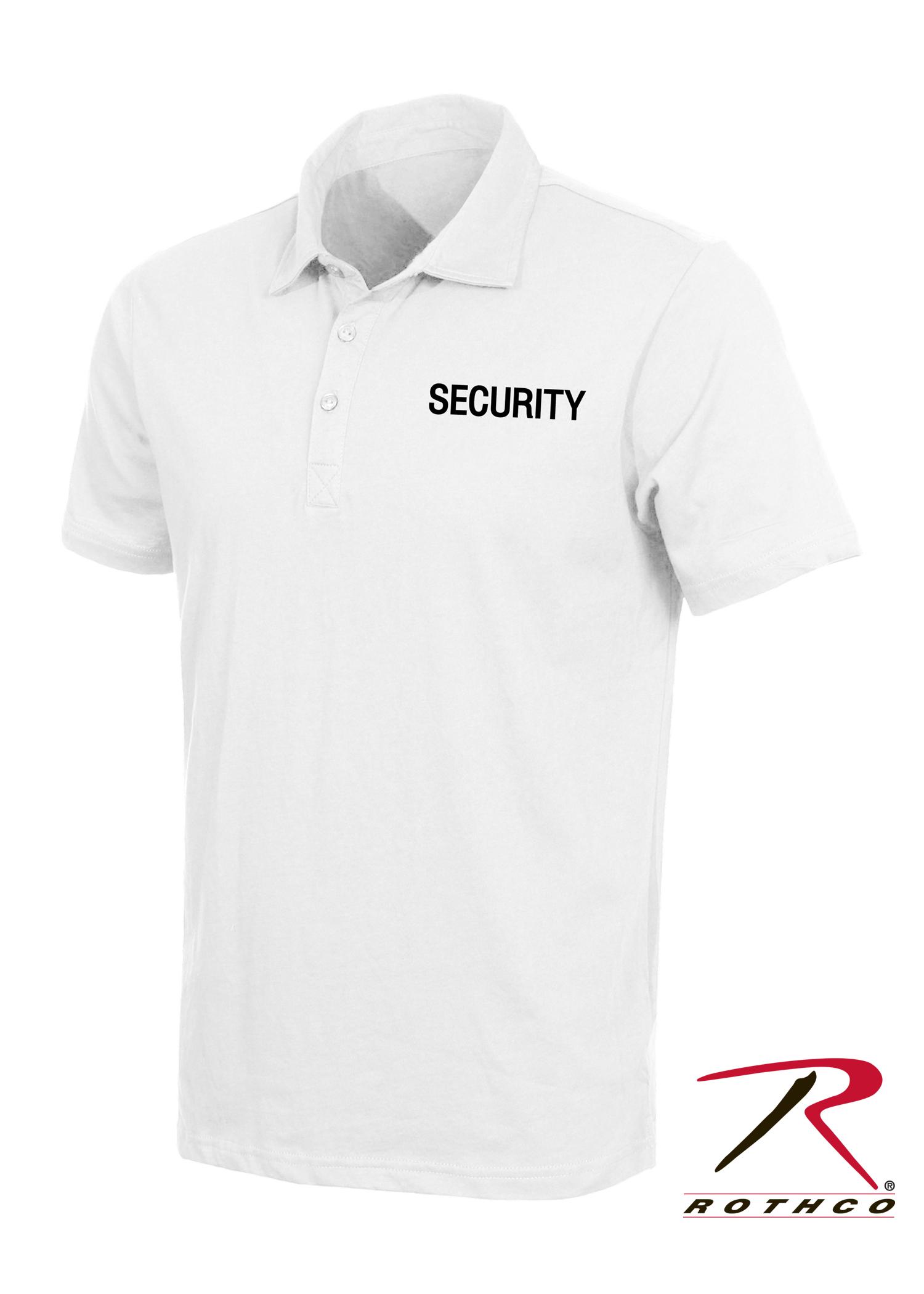 White Security Printed Polo Shirt