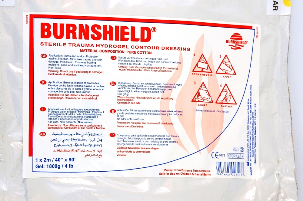 contour burn dressing 2m x 1m in nylon bag. Black Bedroom Furniture Sets. Home Design Ideas