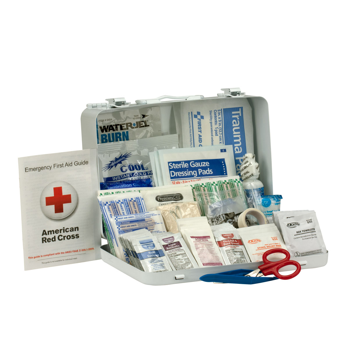 25 Person First Aid Kit, ANSI A+, Metal Case