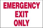 Emergency Exit Only 3D Sign (Plastic)