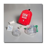 Adult/Child & Infant CPR Mask in Soft Case - Red