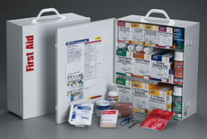 First aid cabinets and first aid stations