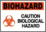 Biohazard Caution Sign (Plastic)