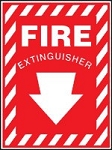 Fire Extinguisher Sign (Aluminum)