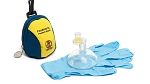 Laerdal Pediatric Pocket Mask, with Gloves and Wipe in Blue/Yellow Soft Pack