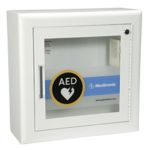 AED Wall Cabinet with Alarm - Recessed, Square Edges, 1.5
