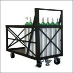 Vertical Bulk Cylinder Cart
