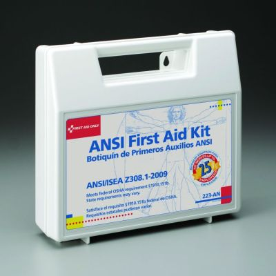 110-Piece (25 person) Bulk ANSI Kit (Plastic Case) | 223-AN made by First  Aid Only | CPR Savers and First Aid Supply