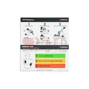 Aed Instruction Card Laminated Easy Reference 26500 000185 Made