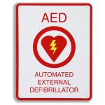 AED Plus Wall Sign (8.5