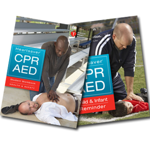 Heartsaver CPR AED Student Workbook (English or Spanish)