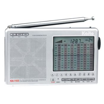 Dual W/AM/FM Conversion Digital Entry shortwave Radio with SSB | KA1103  made by Kaito | CPR Savers and First Aid Supply