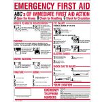 ABC's of Emergency First Aid Sign (24