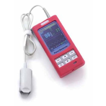 Hand Held Pulse Oximeter (EMS Red) | MS-74011 made by MedSource  International | CPR Savers and First Aid Supply