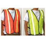 Single Safety Vest with Reflective Stripes
