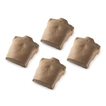 Dark Torso Skin Replacements for Prestan Adult Manikin (4-Pack)