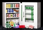 First Aid Cabinet - Empty, 4-Shelf Medicine Cabinet with Locking Door