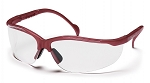 VENTURE II - Clear Lens with Maroon Frame