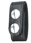 Double Snap B76-4 Belt Keepers (Pack of 4) Black