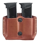 Gold Line Double Mag Case With Belt Loops (Chestnut Brown)