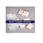 First Aid Training Kit w/ 2 Muslin Triangular Bandages (Case of 100)