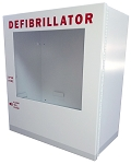 Surface Mount AED Cabinet with Optional Strobe + Alarm