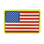 PVC U.S. Flag Patches (6 PCS / PACK)