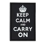 PVC Keep-Calm, Carry-On Moral Patches (6PC/PACK)
