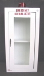 Surface Mounted AED Wall Cabinet With Alarm - White Steel