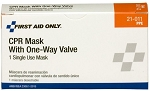 CPR One-Way Valve Faceshield (Latex Free) - 1 per Single Unit Box