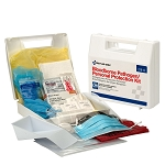 BBP Spill Clean Up Kit with CPR Pack, Plastic Case