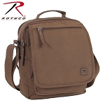 Brown Canvas Everyday Work Shoulder Bag w/Leather