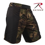 Black/Woodland Camo Fighting Shorts