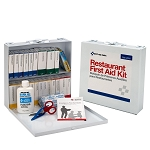 75 Person Restaurant First Aid Kit, Metal Case- (204-Piece)