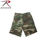 Woodland Camo Vintage 5-Pocket Flat Front Shorts