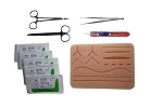 Complete Suturing Practice Kit (Large Suture Pad, Sutures, Tools)