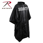 Rothco Black Security Vinyl Poncho