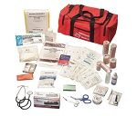 Red Nylon Medium Deluxe Responder Trauma First Aid Kit