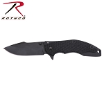 Rothco Black Assisted Opening Folding Knife