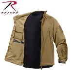 Coyote Brown Concealed Carry Soft Shell Jacket