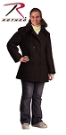 Women's Black U.S. Navy Type Peacoat