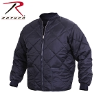 Navy Blue Diamond Quilted Flight Jacket