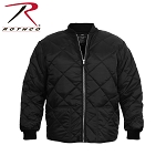 Black Diamond Quilted Flight Jacket